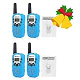 2 Pairs BellSouth T-388 Two Way Radio Handheld Walkie Talkie for Children Kids with Flashlight, 3-5KM 22 FRS GMRS, Outdoor Activities Electronic Toys Gifts, Blue