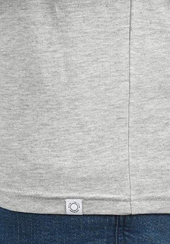 Con Bedo V De Camiseta neck Algodón Melange 8242 Grey shirt Hombre Light Manga Básica Para 100 Corta solid T vwdBPvqf