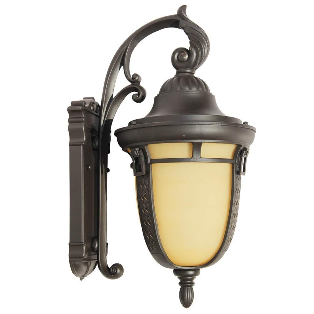 屋外の壁の照明、本管のE27壁に取り付けられた外壁ランプの防水ワイヤーで縛られた庭の壁ライト古典的な外壁のランタンLEDの保証壁取り付け用燭台   B07P7WWKFB