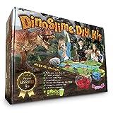 Dinosaur Toys MEGA KIT! OMG! Pre-Made Plus DIY Slime!! - Includes Volcano, 12 Jurassic Dinos, 5-Pack Dinosaur Eggs That Hatch - Non-Stick Playset with Mat Has Surprise Bonus Slime Inside!