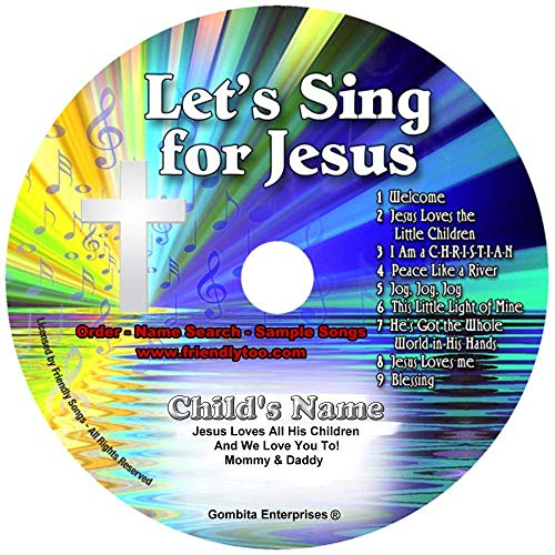 Children Name Personalized Music CD - Friendly Songs Let