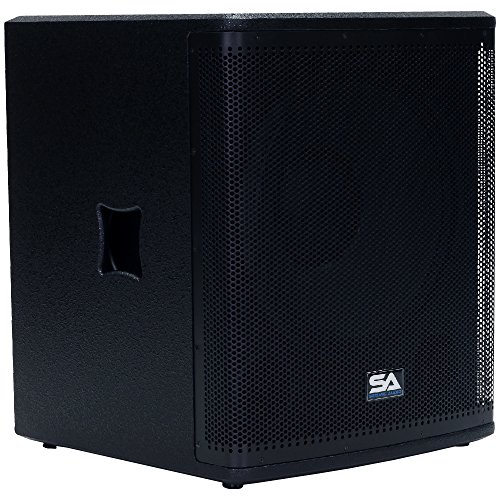 Seismic Audio Magma-118S-PW Powered 18-Inch Pro Audio Subwoofer Cabinet 800-Watts RMS PA/DJ Stage, Studio ()