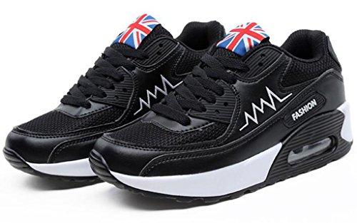 GFONE - Zapatos de tacón  mujer BlackMesh
