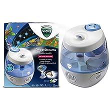Vicks VUL575 - Humidificador de vapor frío Dulces Sueños con proyector de imágenes