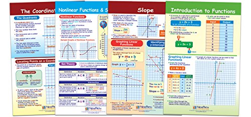 NewPath Learning 93-6504 Graphs and Functions Bulletin Board Chart Set (Pack of 4)]()