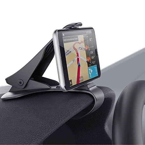 - Emmabin Car Dashboard Phone Holder Car Mount HUD Design with Cable Clips, No Blocking for Sight, Durable Dashboard Cell Phone Holder for iPhone X 8 7/7Plus/6/6S Plus/Samsung, HuaWei, 3.5-6.5 Inches Sm
