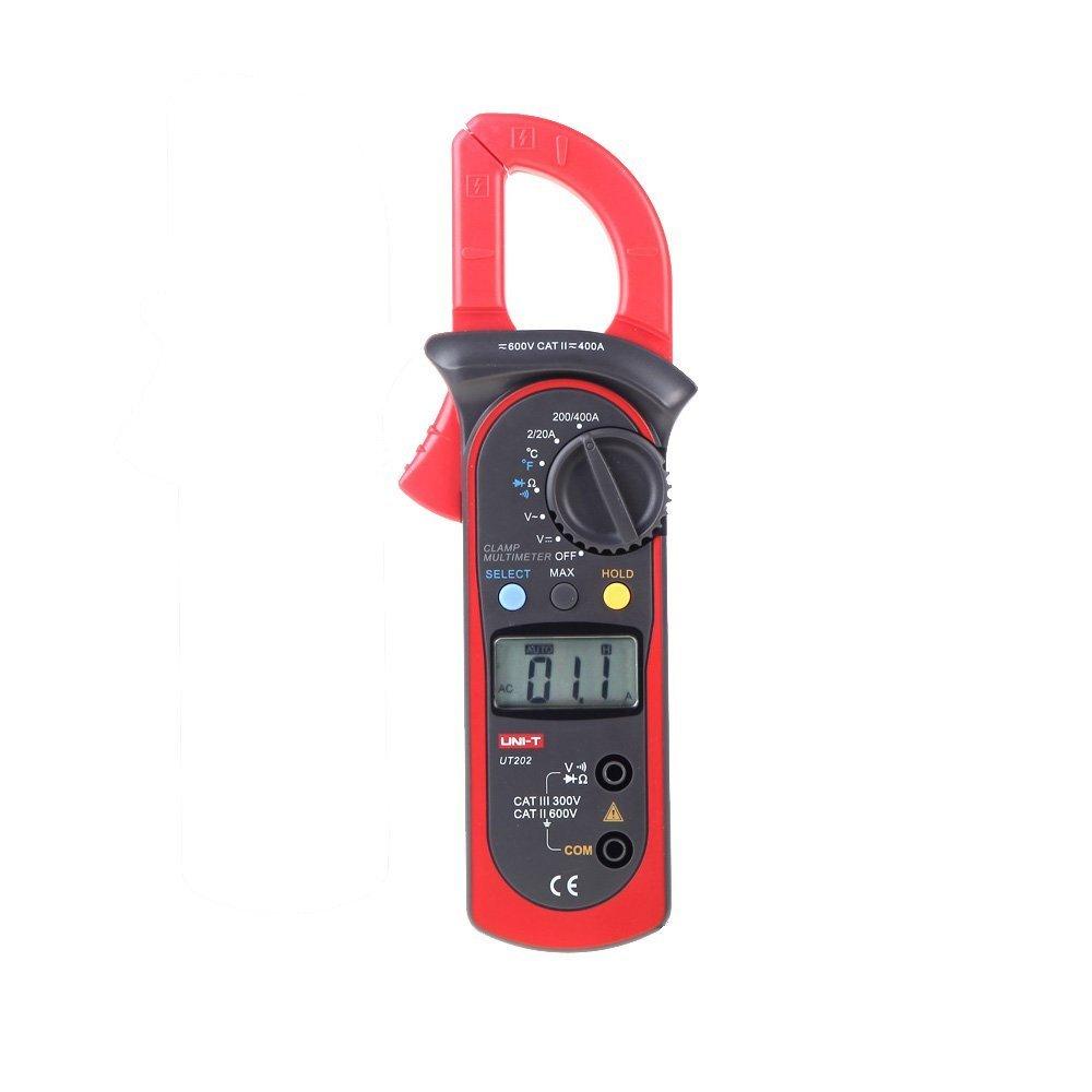 Medidor de abrazadera digital - UNI-T UT202 400-600A Medidor de abrazadera digital w/ Probador de temperatura Probador de resistencia de corriente de voltaje