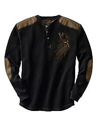 Legendary Whitetails Men's Long Sleeve Cotton Thermal Commando Henley