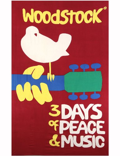 - Sunshine Joy Woodstock Music Festival Tapestry Beach Sheet Hanging Wall Art - Huge 60x90 Inches