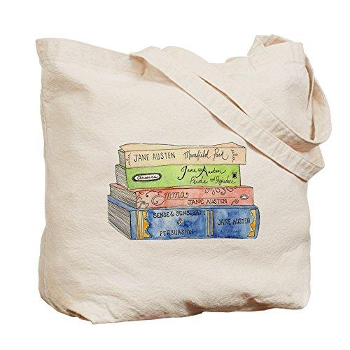 CafePress–Jane Austen libros–Gamuza de bolsa de lona bolsa, bolsa de la compra Small caqui