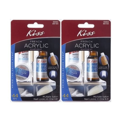 Kiss Acrylic Nail Kit Instructions: **2-PACK** Kiss Nails French Acrylic Sculpture Kit