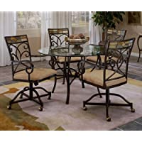 Mosaic 5 Pc. Dinette Set w Four Castered Chairs