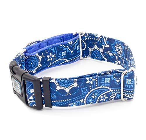Caninus Collars Blue Bandana Paisley - 5/8
