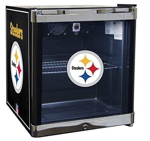 GLAROS Officially Licensed NFL Beverage Center/Refrigerator (Pittsburgh Steelers)