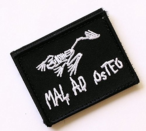 (NEW MAL AD OSTEO US NAVY SEALS FROGMAN BAD TO THE BONE WARFARE VELCRO PATCH (SY))