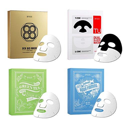 Dmask Premium Facial Mask Sheet Korean Skin Care Multi Moisturizing Pack  Mix   2 Of Each   8 Packs
