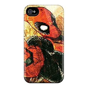 Protective Cell-phone Hard Covers For Iphone 4/4s With Allow Personal Design Realistic Deadpool I4 Image JasonPelletier