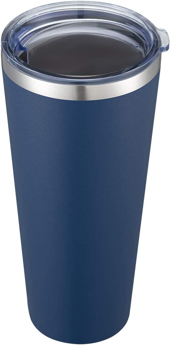 COMOOO 30oz Tumbler Stainless Steel Tumbler with Lid, Double Wall Insulated Coffee Travel Mug for Home, Office, School & Travel, Great Coffee Cup for Keeping Beverage Cold and Hot, (Navy, 1Pack)