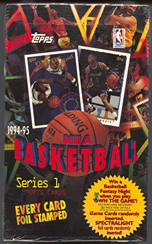 (1994-95 Topps NBA Basketball Cards Series 1 Box)