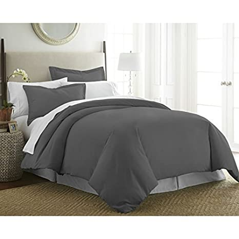 Ivory ienjoy home SS-DUVET-TWIN-IVORY Simply Soft Duvet Cover Set Twin