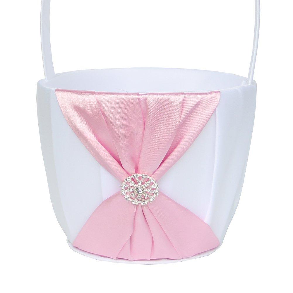 Amazon Arksu Flower Girl Basket With Satin Ribbon And