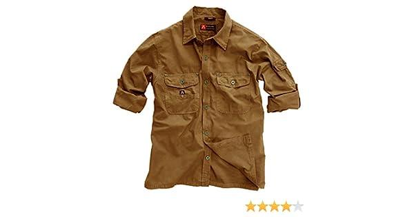 Kakadu Traders Australia Exterior de Safari de algodón Camisa de Señor de Ligero, Manga Larga Camiseta de hasta 5 X l Disponible: Amazon.es: Deportes y aire libre