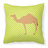 Caroline's Treasures BB7643PW1414 Arabian Camel Dromedary Green Outdoor Canvas Fabric Decorative Pillow, 14'' x 3'' x 14'', Multicolor