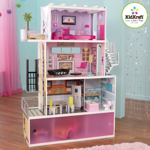 Amazoncom KidKraft Beachfront Mansion with Furniture Toys Games