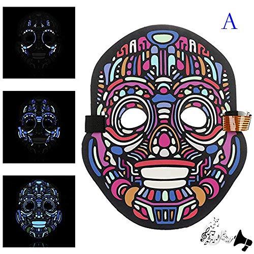 MOKO-PP Party Version Sound Reactive LED Mask Dance