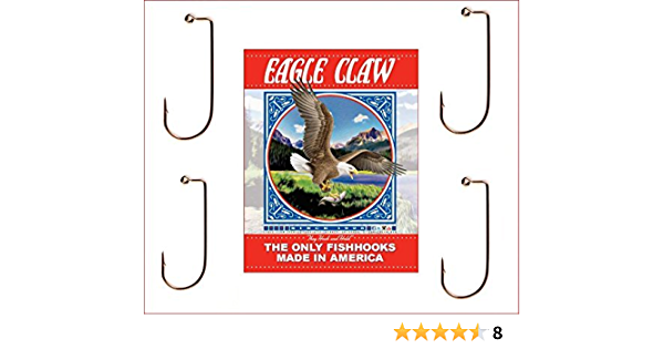 -570--#3//0  BRONZE JIG HOOK EAGLE CLAW 100 PCS PER PACKAGE