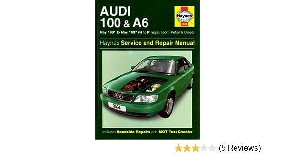 audi 100 and a6 1991 97 service and repair manual haynes service rh amazon com