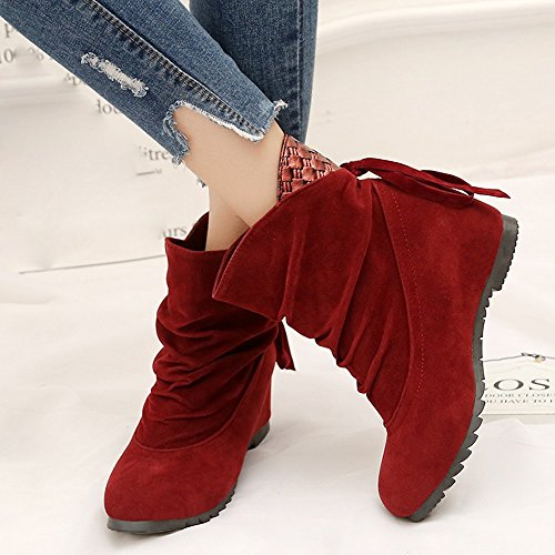 Boots For Shoes Women Sale Womens On Casual Flat Wedges Red Slip Clearance Boots ,Farjing Low Boots Ankle Martin Boots wfZOXqdnxO
