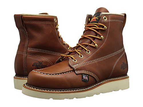 "Thorogood 814-4200 American Heritage 6"" Moc Toe Boot, Tobacco, 11.5 D US"