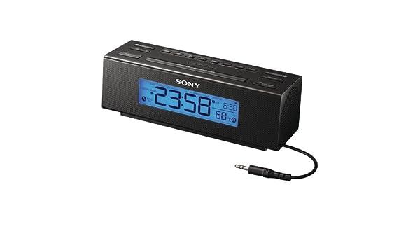 Sony ICF-C707 Reloj Digital Negro - Radio (Reloj, Digital, Am,FM, 87 ...