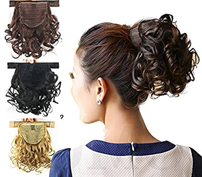 "DENIYA 11"" 28cm Short Curly Wrap Around Ponytail Hair Extension for Women"