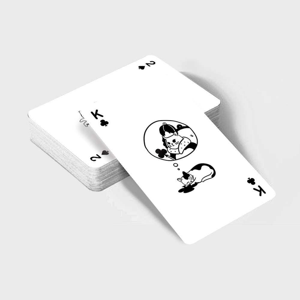 Cattitude Cards Animated Cute Cats illustrations Playing Cards