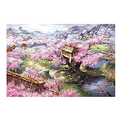 Black Temptation Compleanno Regalo Creativo Puzzle In Legno 1000 Pcs Puzzle Card Toy Peach Blossom