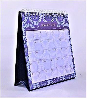 2018 Standing Desk Calendar (Blue Flowers)
