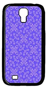 IMARTCASE Samsung Galaxy S4 Case, Periwinkle Paisley Pattern PC Black Hard Case Cover for Samsung Galaxy S4 I9500