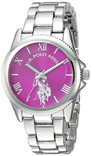 U.S. Polo Assn. Womens Quartz Metal and Alloy Casual Watch, Color:Silver-Toned (Model: USC40134)