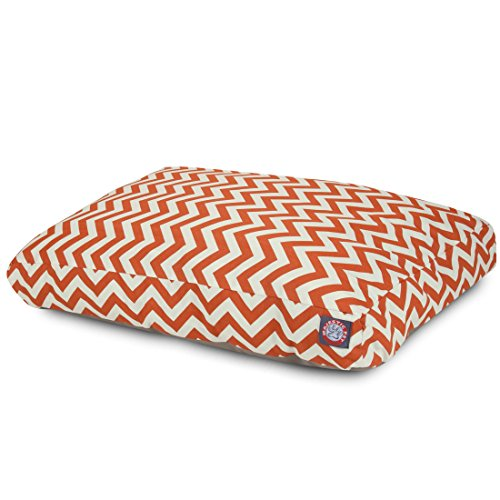 Burnt Orange Chevron Large Rectangle Indoor Outdoor Pet Dog Bed With Removable Washable Cover By Majestic Pet Products by Majestic Pet