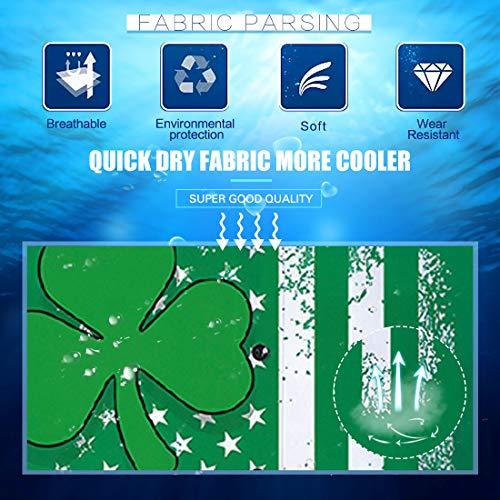 3014ca91b2 Fanient Men Fashion 3D Pattern Hawaiian Summer Mens Floral Four-Leaf Clover  Casual Button Down