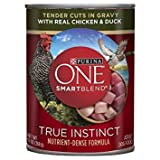 Purina ONE SmartBlend True Instinct Tender Cuts in Gravy with Real Chicken & Duck Dog Food 13 oz. Can