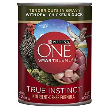 Purina ONE SmartBlend True Instinct Tender Cuts in Gravy with Real Chicken & Duck Dog Food 13 oz. Can by Purina ONE