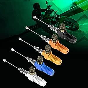 GOOFIT Bomba Embrague M8 x 1.25mm de Izquierda Hidraulico Moto Cilindro Maestro Aluminio CNC Universal para YZ125 YZ250 YZ250F YZ450F WR250F WR450F Pit Bike Scooter y Ciclomotor Azul