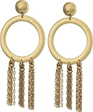 Lucky Brand Gold O Tassel Earrings