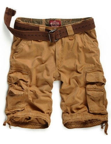 Match Men's Twill Cargo Shorts Quick-dry Summer Shorts