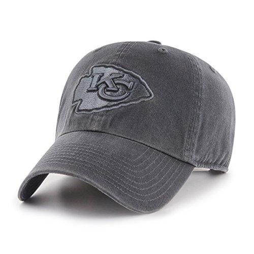 NFL Kansas City Chiefs Male OTS Challenger Adjustable Hat, Dark Charcoal, One -