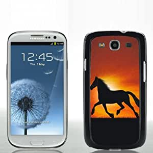 Pink Ladoo? Samsung S3 Case Phone Cover Hard Plastic Horse Silhouette