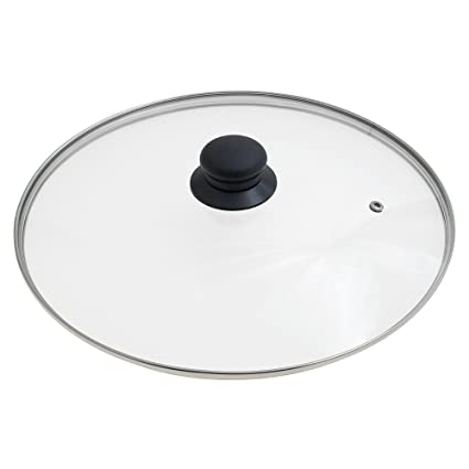 ORYX Tapadera de Cristal para Sartén 30cm, Blanco, 30 cm